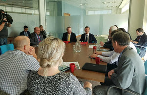 Secretary of State for Wales Alun Cairns hosts roundtable with International Trade Secretary Dr Liam Fox and leading dairy businesses