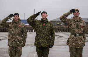 British soldiers from 1st Battalion The Royal Welsh have deployed to Estonia. Crown copyright.
