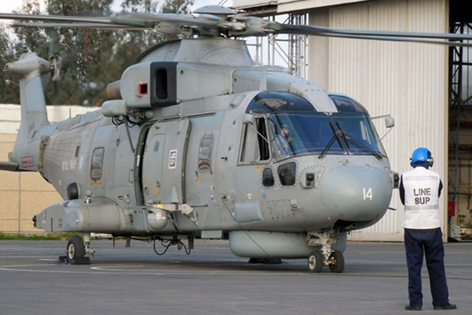 A Naval Air Squadron Merlin helicopter