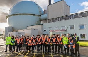 Japanese visitors outside the Dounreay Fast Reactor