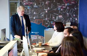Boris Johnson visits London College of Communication