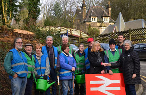 Community rail station adopters at Cromford Station.
