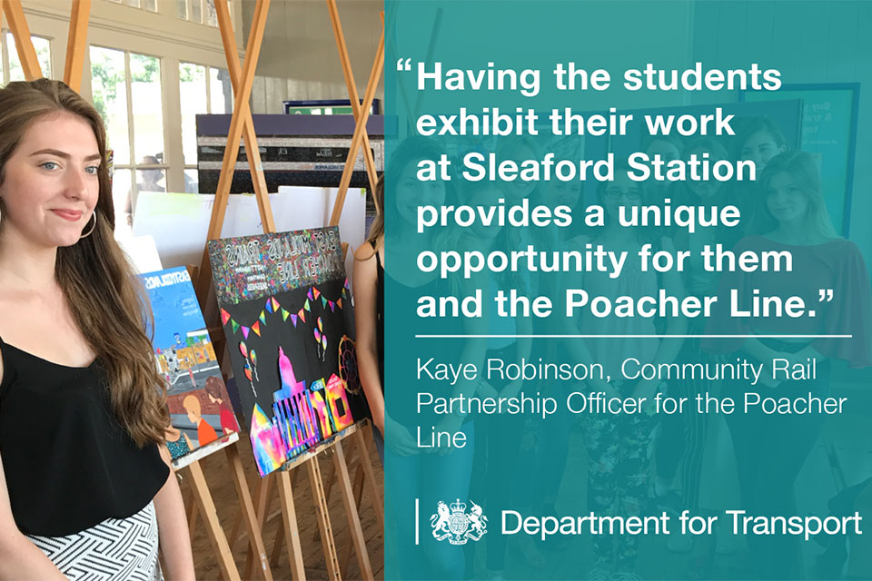 Having the students exhibit their work at Sleaford Station provides a unique opportunity for them and the Poacher Line.