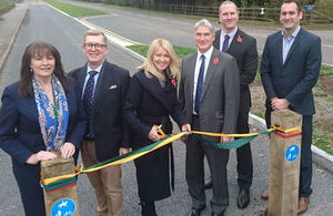 image showing Cheshire East councllors and the A556 project
