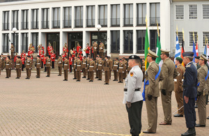 Farewell parade formally marking the move of the Headquarters Allied Rapid Reaction Corps (HQ ARRC) from Germany to the UK in 2010 (library image) [Picture: Sergeant D Wells, Crown copyright]