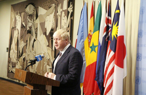 Boris Johnson statement on the the situation on Rakhine state, Burma