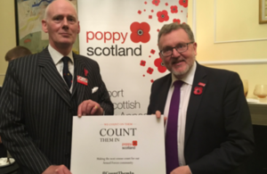 David Mundell welcomes Poppyscotland to Dover House