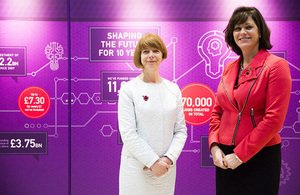 Ruth McKernan, Innovate UK Chief Executive, and Minister of State for Climate Change and Industry, Claire Perry