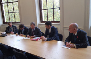 Participants signing the MOU