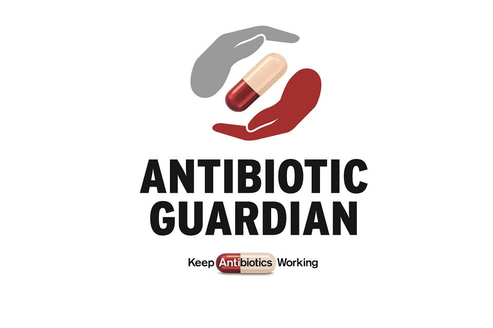 Infographic showing Antibiotic Guardian logo