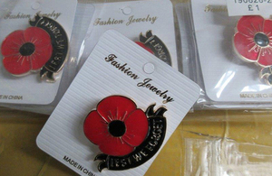 Read our article on fake remembrance merchandise seized by Border Force