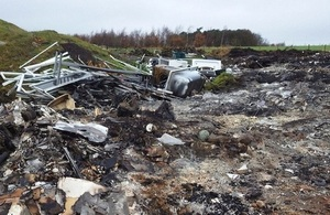 Image shows waste on site