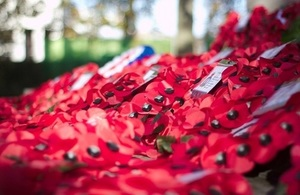 Ministers for the UK Government in Wales to mark Remembrance Day