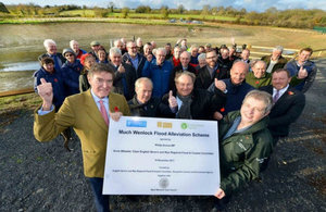 Official opening of the Much Wenlock flood scheme