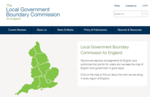 Local Government Boundary Commission for England website