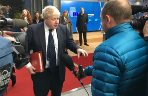 Boris Johnson attends the Foreign Affairs Council meeting