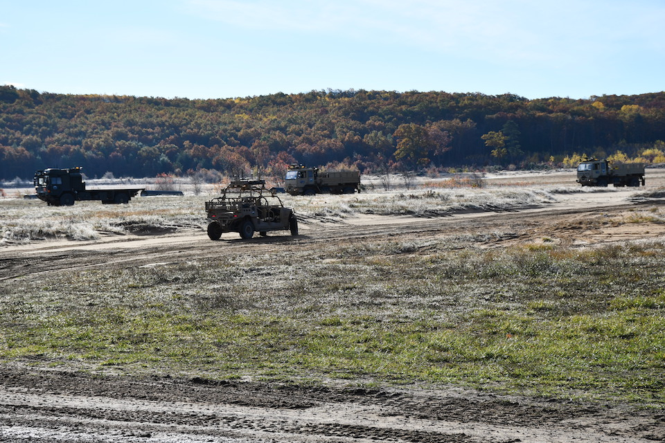 A remote-operated 4x4 being tested by the British and US Armies out in Michigan.