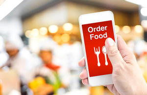 Ordering food on mobile