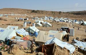 UNHCR tents in Yemen