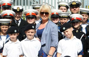Baroness Newlove with sea cadets
