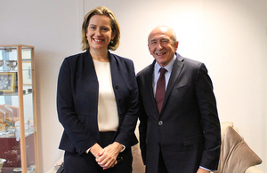 Home Secretary Amber Rudd with French Interior Minister Gérard Collomb