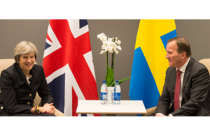 PM Theresa May with Swedish Prime Minister Stefan Löfven