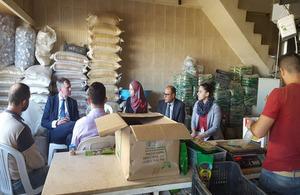 Ambassador Shorter visits UK funded projects in Tripoli