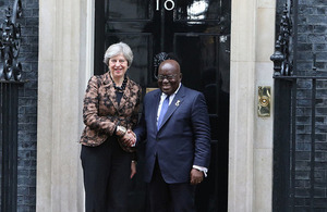 Prime Minister Theresa May and President Nana Akufo-Addo