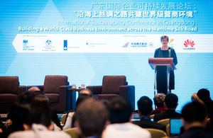 The British Ambassador to China, Dame Barbara Woodward delivered a speech.