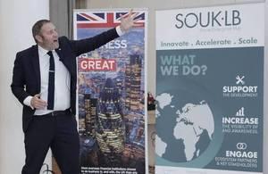 Peter Holbrook -CEO Social Enterprise UK - in Lebanon