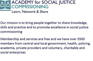 Academy for Social Justice Commissioning logo