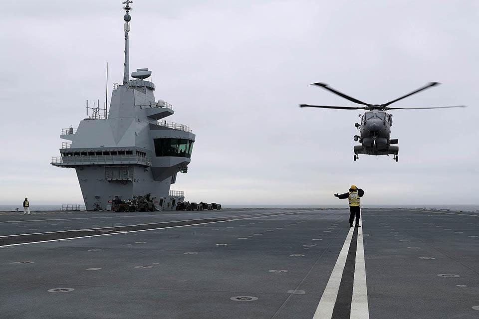 The Flying Control Room on HMS Queen Elizabeth.