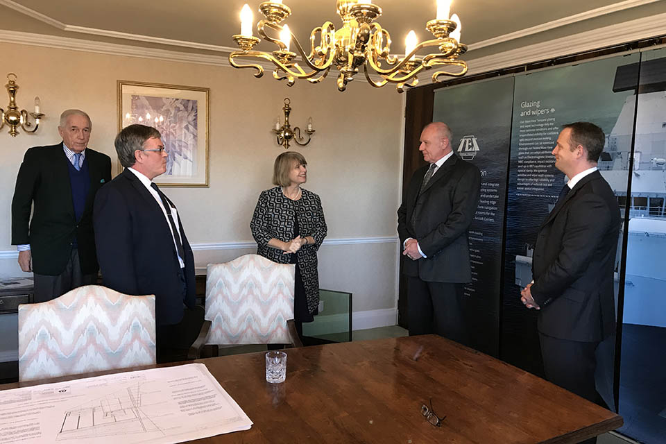 Defence Minister Harriett Baldwin paid a visit to Tex Special Projects Ltd.