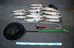 Seized equipment and fish