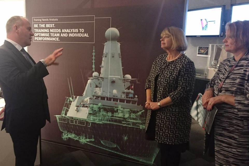 Visiting BAE Systems' Great Baddow site today, Defence Minister Harriett Baldwin announced a new £18 million contract to support the Royal Navy's air defence fleet and sustain Chelmsford jobs.