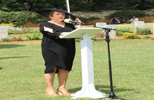 HMA Susanna Moorehead led Remembrance Service