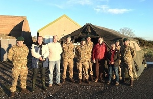 A group of MSPs visited Royal Marine Condor today.