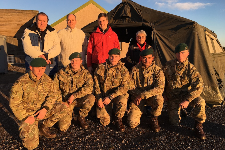 As part of the Armed Forces Visit Programme, a group of MSPs visited the Royal Marine base at Arbroath.