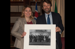 Karen Bradley with Dario Franceschini