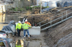 Preparatory work for flood alleviation scheme in Mytholmroyd