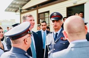Ambassador Shorter and General Othman at the police stations in Beirut