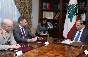 General Lorimer met with President Michel Aoun