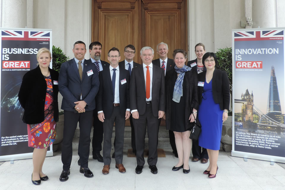 Ambassador Fiona Clouder, Mr Mark Menzies MP and BIM Delegates at the British residence.