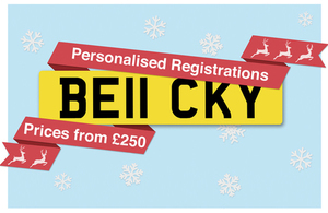 Personalised registration number BE11 CKY