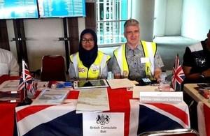 British Consulate Bali Desk at I Ngurah Rai Airport