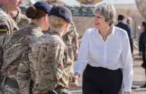 Prime Minister Theresa May in Iraq