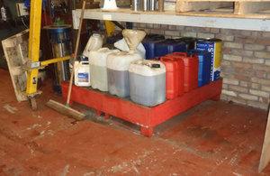 Safely storing hazardous materials