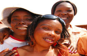 A sex worker with her support group. Picture: Chris Morgan / Department for International Development