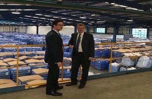 Minister Steve Baker visits Pasta Foods in Norfolk