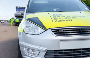 DVSA traffic examiners inspect a vehicle